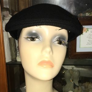 Burberry Newsboy Black Cap Hat Size Medium